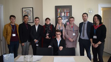 A group of students from the Czech Republic were welcomed to Dereham Neatherd High School by headtea