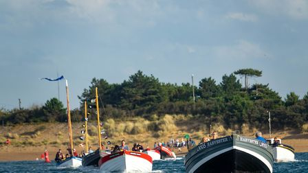 Boats at the Historic Fishing Boats Regatta in Wells. Picture: Supplied by Rescue Wooden Boats.