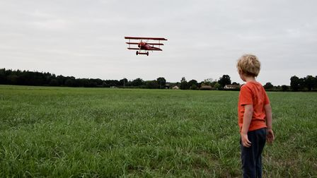 On the launch day of Peter von Brueggemann's Fokker triplane. Picture: SUPPLIED BY ROB HENRY