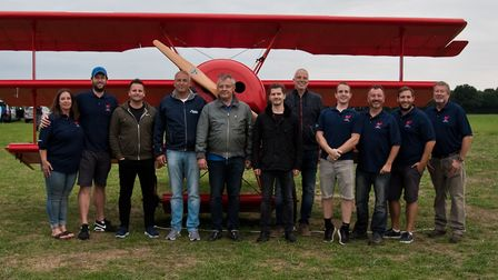 On the launch day of Peter Brueggemann's Fokker triplane. Picture: SUPPLIED BY ROB HENRY