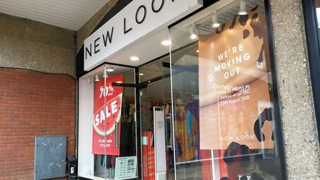 New Look in Dereham has closed its door for the final time. Pictured days before the shop was due to