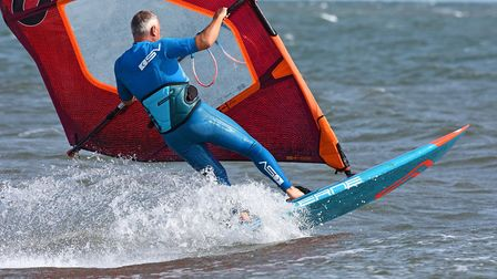 Wind surfing and kite surfing at Brancaster beach on Bank Holiday Monday. Picture: Neil Foster/Water