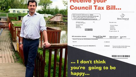 Pablo Dimoglou, independent councillor for Mattishall, has delivered 2,000 leaflets to residents hom