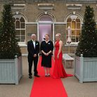 Organisers Nick Loades and Kyra Welch, right, with Tina Burdett from EACH. Picture: DISS EVENT PHOTO