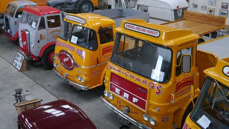 A collection of Jack Richards lorries were sold at auction. Picture: Supplied by Cheffins.
