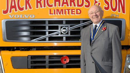 Jack Richards in front of one of his lorries. Picture: Archant