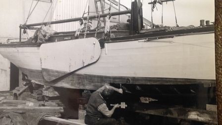 Work being carried out on the Growler in days gone by. Pictures: supplied by Ash Faire Ring