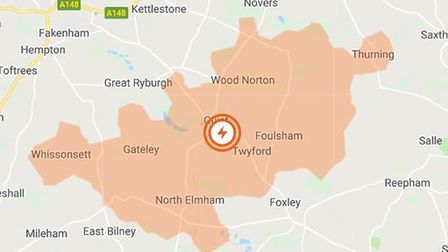 There has been a power outage between Dereham and Fakenham. File photo. Image: UK POWER NETWORKS