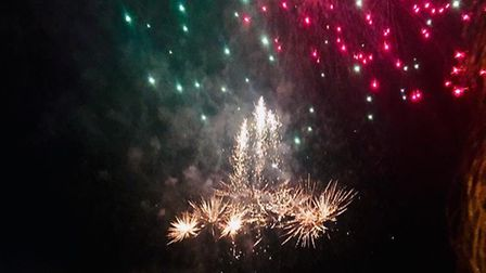 The fireworks going off at Wells Christmas Tide Picture: LISA REYNOLDS