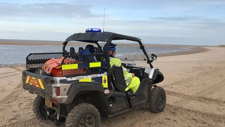 HM Coastguard's new All Terrain Vehicle was used at the multi-agency exercise in Holkham. Pictures: