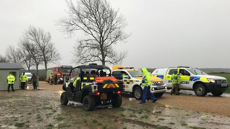 Multi-agency exercise in Holkham. Pictures: Julia Gosling