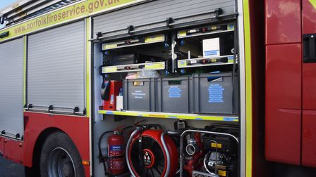 Norfolk Fire and Rescue Service were called to a washing machine fire in north Norfolk. Photo: Denis