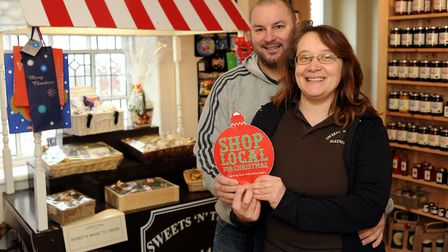 Sweets 'n' Things in Fakenham, was broken into overnight on Sunday, December 23. Pictured are owners