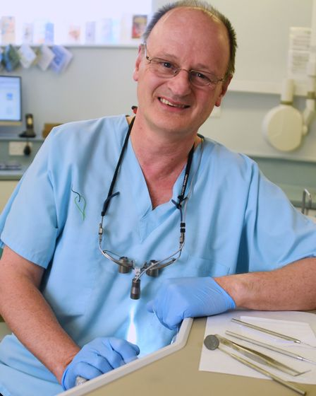 Mike Edgecombe who is retiring after being a dentist at Dereham for 37 years. Picture: DENISE BRADLE