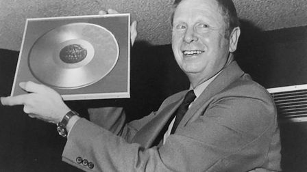 Alf Mace, died at Eckling Grange on December 14, 2018. Pictured, holding a golden disk made by work