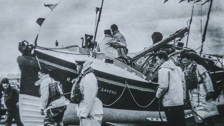 Some of the exhibits on display at the Rescue Wooden Boats Museum at Stiffkey include an old photo o