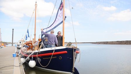 Lucy Lavers moored up in the quay at Wells. Picture: Ian Burt
