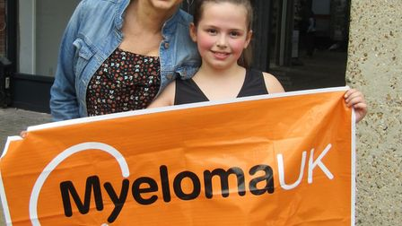 Brooke Murfit, aged 10, of North Elmham, did a sponsored twirl in Dereham town centre to raise aware