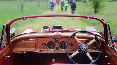 View of Stody Lodge Gardens from within a stunning Jaguar SC 150 DHC 3.4ltr last year. Pictures: Ala