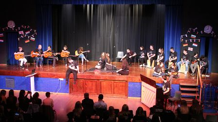 Students at Dereham Northgate High School during the presentation evening of the European Arts Festi