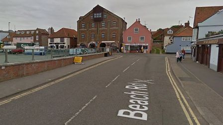 The construction of a proposed roundabout on Beach Road in Wells has been postponed. Picture: Google