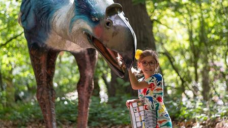 Easter 2019 at Roarr! Dinosaur Adventure. Pictured is a girl on an egg-cellent adventure. Picture: L