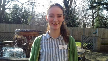 Emily King, 17, has been volunteering at Bilney Hall. Picture: Healthcare Homes