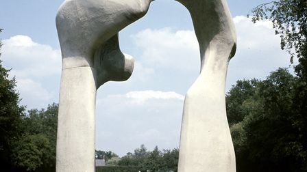 Henry Moore's sculpture, The Arch, which will be shown at Houghton Hall. Picture: HENRY MOORE FOUNDA
