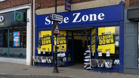 Shoe Zone in Dereham is closing its High Street shop and moving elsewhere in the town. Picture: Arch