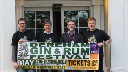 The Dereham Gin and Rum Festival, organised by Dereham & District Round Table, is being held at Dere
