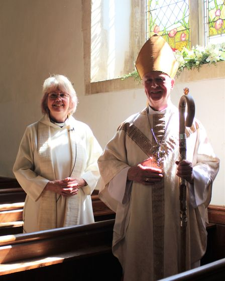 The Right Reverend Jonathan Meyrick, Bishop of Lynn, officially dedicated the First World War memori