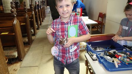A warm and sunny Good Friday welcomed many families to a Messy Church event at St Nicholas Church, i