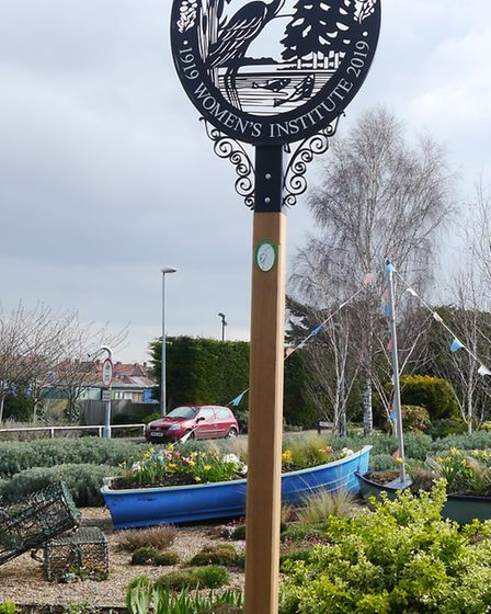 The new town sign at Wells-next-the-Sea. Picture: SUPPLIED BY PAMELA UNDERWOOD