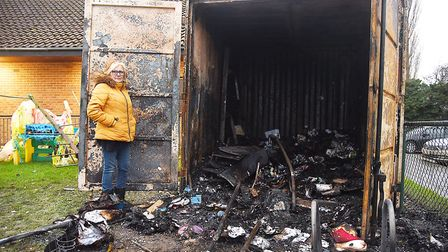 A container containing toys and play equipment at Little Angels Pre-School was destroyed by a fire l