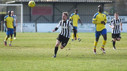 Danny Beaumont scored a hat-trick in Dereham Town's final league game of the season Picture: ARCHANT