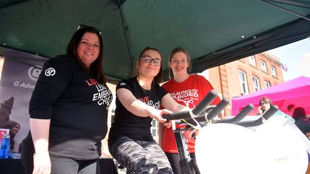The Hays Travel and G Adventures stand at the Fakenham Fayre were raising funds for Walking With The