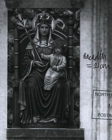 The Our Lady of Walsingham statue. Picture: NNDC planning documents