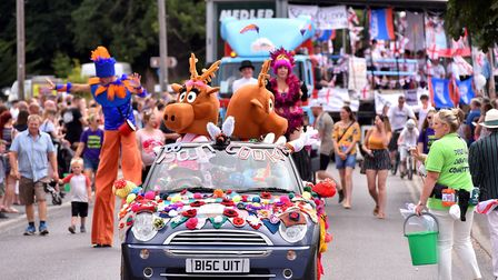 Dereham Carnival Parade 2018, which is on hold until 2020 for the Dereham Peace Day event. Picture: