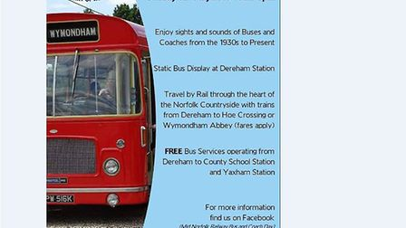 Poster advertising the return of the Mid Norfolk rail, bus and coach day. Picture: Mid Norfolk Railw