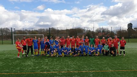 A charity game between Dereham Saints u15s and their parents was held in support of Lewis Atkins. Pi