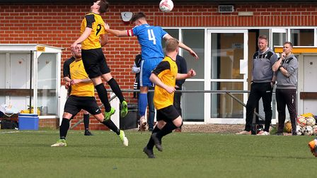 Fakenham Town on their way to an emphatic 5-2 win over Leiston Reserves on Saturday Picture: RONNIE