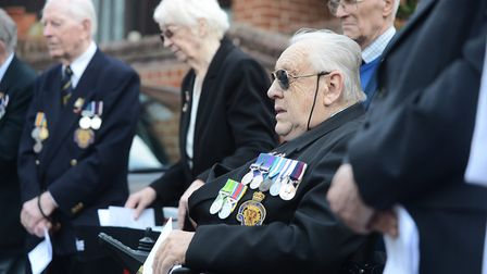 At a previous service to remember Dereham war hero William O'Callaghan. Picture: Ian Burt