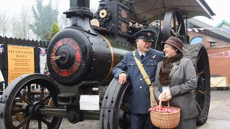 The clock is turned back to the 1940s at the Whitwell and Reepham Station. Flt Sgt Derek Allen and