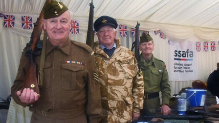 The clock is turned back to the 1940s at the Whitwell and Reepham Station. SSAFA charity volunteers,