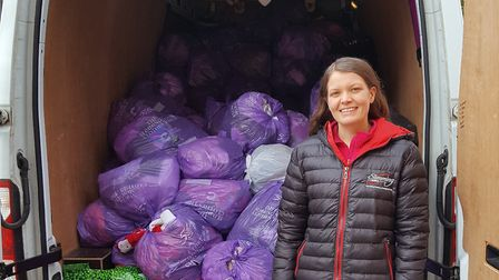 Slimming World groups from Fakenham and Briston donated old clothes worth nearly £6,000 to Cancer Re