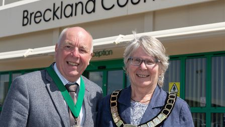 Cllr Brame and Cllr Turner, Breckland Council's vice chairman and chairman 2019/20. Picture: KEITH M