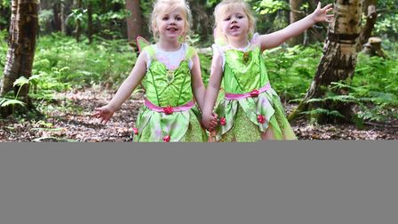 Bradmore Woods near West Acre plays host to the 21st Fairy Fair.Charlotte and Olivia HardyByline: So