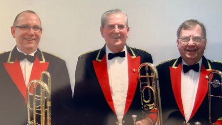 Raymond Barnes, centre, in his band members' uniform. Picture; COURTESY OF THE FAMILY