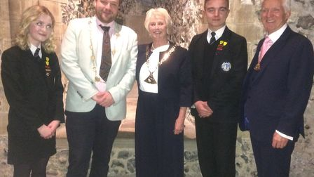Northgate High's head boy and girl were invited to Norwich Castle to recognise the year in office of