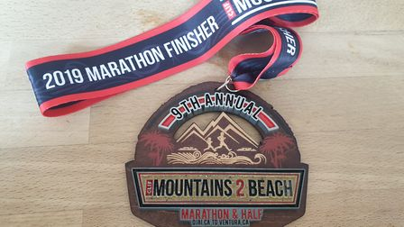 Ian Odgers from Dereham has recently completed a marathon in California as he prepares to reach the